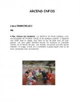 Arcens Info 2 eme trimestre 2017