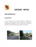Arcens info 3 eme trimestre 2017