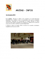 ArcensInfo 1er Trimestre 2019