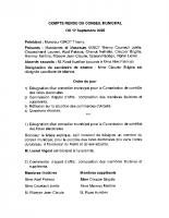 Compte rendu du CM du 17 Septembre 2020